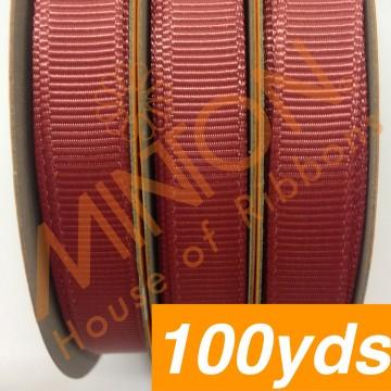 10mmx100yds Grosgrain Cinnabar