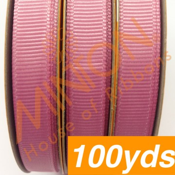 10mmx100yds Grosgrain Wild Rose