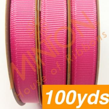 10mmx100yds Grosgrain Hot Pink