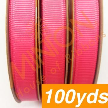 10mmx100yds Grosgrain Passion Fruit