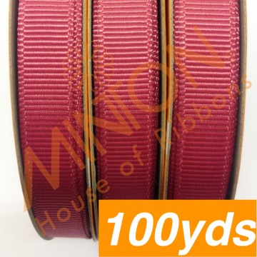 10mmx100yds Grosgrain Colonial Rose