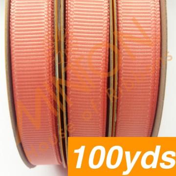 10mmx100yds Grosgrain Lt.Coral