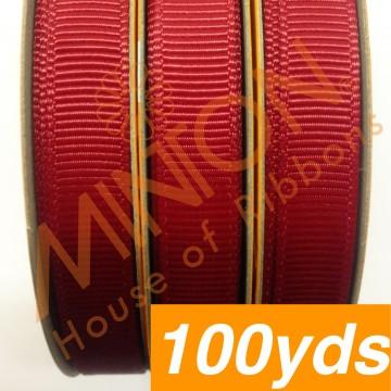 10mmx100yds Grosgrain Scarlet (Red)