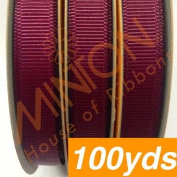 10mmx100yds Grosgrain Wine