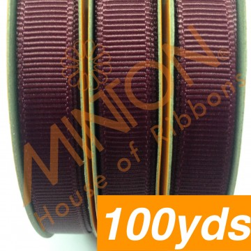 10mmx100yds Grosgrain Burgundy