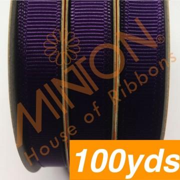 10mmx100yds Grosgrain Plum