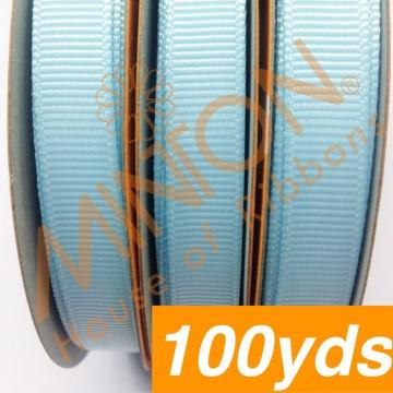 10mmx100yds Grosgrain Lt.Blue