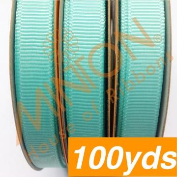 10mmx100yds Grosgrain Aqua
