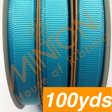 10mmx100yds Grosgrain Misty Turquoise