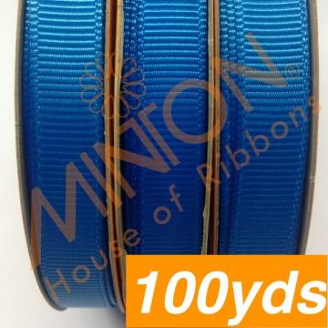 10mmx100yds Grosgrain Aegean Blue