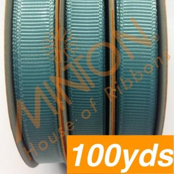 10mmx100yds Grosgrain Nile Blue