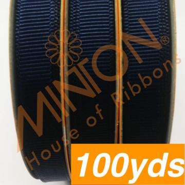 10mmx100yds Grosgrain Navy Blue