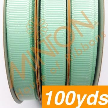 10mmx100yds Grosgrain Pastel Green