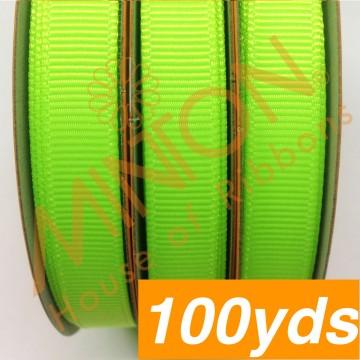 10mmx100yds Grosgrain Key Lime