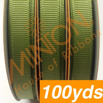 10mmx100yds Grosgrain Willow