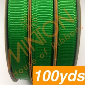 10mmx100yds Grosgrain Emerald
