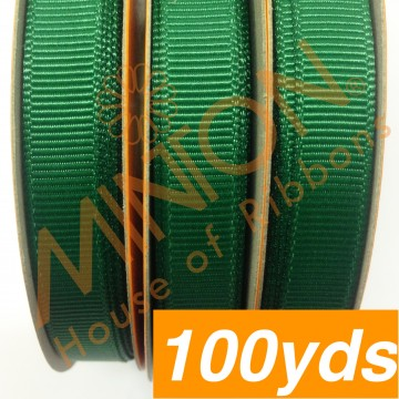 10mmx100yds Grosgrain Forest Green
