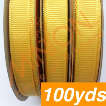 10mmx100yds Grosgrain Yellow Gold