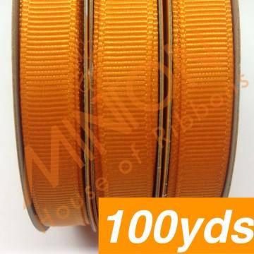 10mmx100yds Grosgrain Tangerine