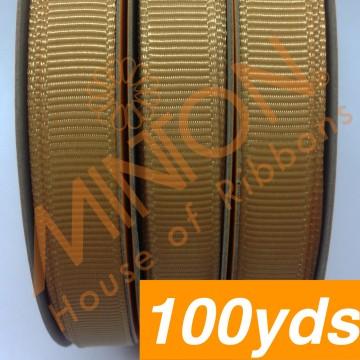 10mmx100yds Grosgrain Old Gold
