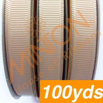 10mmx100yds Grosgrain Petal Peach