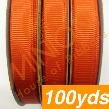 10mmx100yds Grosgrain Torrid Orange
