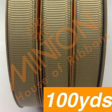 10mmx100yds Grosgrain Candied Ginger
