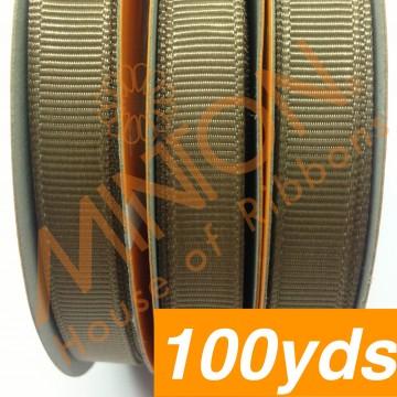 10mmx100yds Grosgrain Ermine