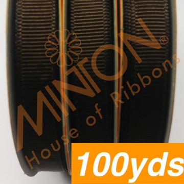 10mmx100yds Grosgrain Brown