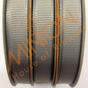 10mmx20yds Grosgrain Silver