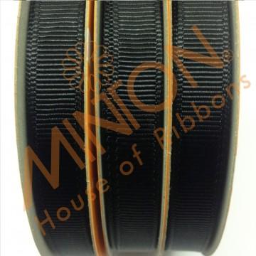 10mmx20yds Grosgrain Black