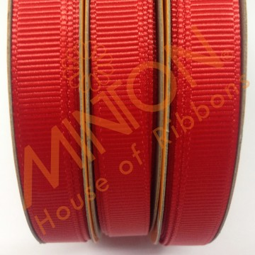 10mmx20yds Grosgrain Poppy (Red)