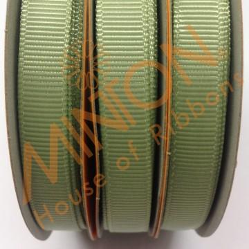 10mmx20yds Grosgrain Spring Moss