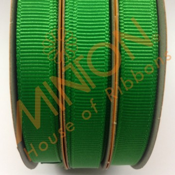 10mmx20yds Grosgrain Emerald