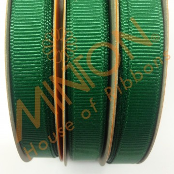 10mmx20yds Grosgrain Forest Green