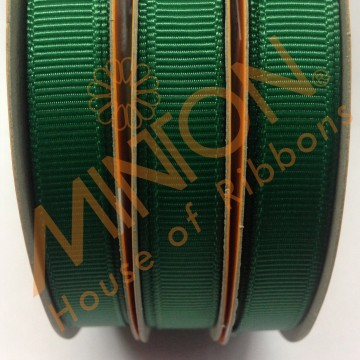 10mmx20yds Grosgrain Hunter