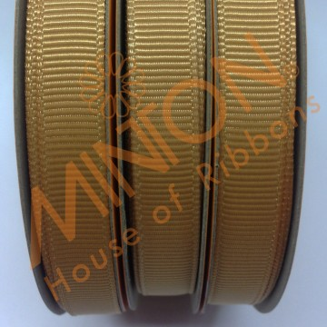 10mmx20yds Grosgrain Old Gold