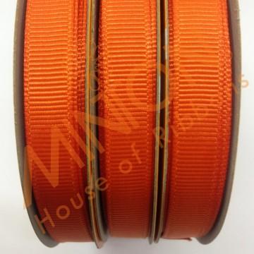 10mmx20yds Grosgrain Torrid Orange