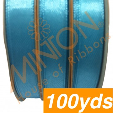 10mmx100yds SF Satin Turquoise Blue