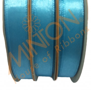 10mmx25yds SF Satin Turquoise Blue