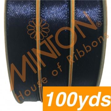 10mmx100yds SF Satin Navy Blue