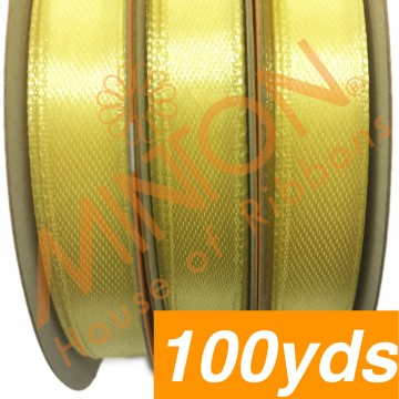 10mmx100yds SF Satin Pastel Yellow