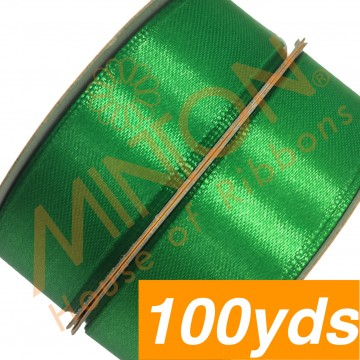 19mmx100yds SF Satin Emerald Green