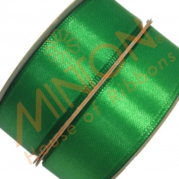 19mmx25yds SF Satin Emerald Green