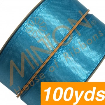 19mmx100yds SF Satin Turquoise Blue