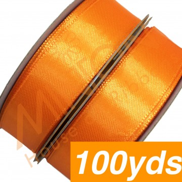19mmx100yds SF Satin Tangerine Orange