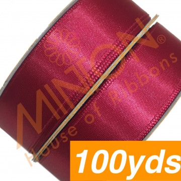19mmx100yds SF Satin Scarlet Red