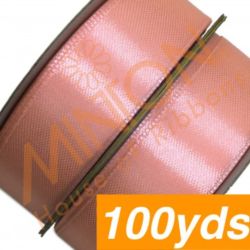 19mmx100yds SF Satin Salmon Pink