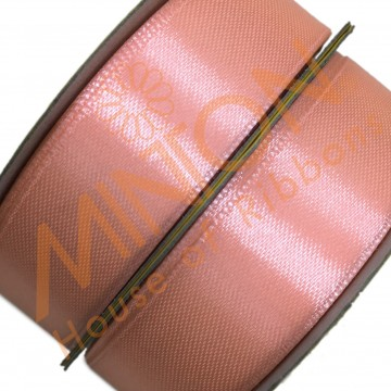 19mmx25yds SF Satin Salmon Pink