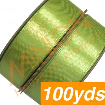 19mmx100yds SF Satin Apple Green